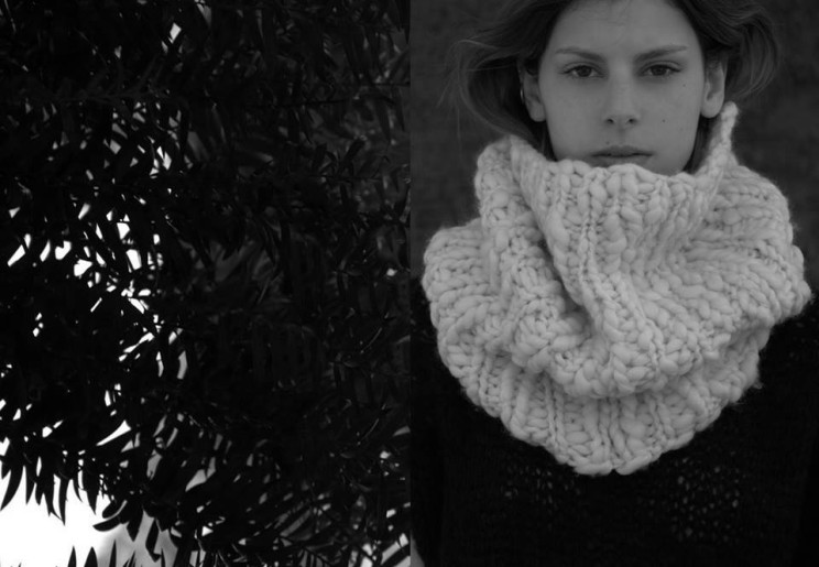 Mouvement collar, merino hand-spun, handmade, natural fibers, knitwear, kinetic, tejidos, hecho a mano, maydi
